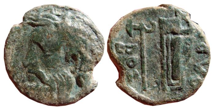 Ancient Coins - Olbia AE21, Sarmatia, Black Sea region. 300-280 BC. OLBIO.