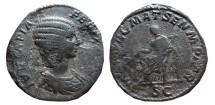 Ancient Coins - Julia Domna AE sestertius, 211 A.D. Rome. MAT. AVGG. MAT. SEN. M. PATR. S.C. RARE.
