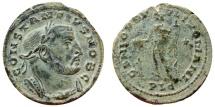 Ancient Coins - Constantius I AE large follis. Lugdunum */PLG. GENIO POPVLI ROMANI
