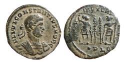 Ancient Coins - Constantius II as caesar AE follis. 332 AD. Lugdunum. ·PLG