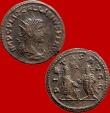 Ancient Coins - Gallienus (253-268 A.D.) billon antoninianus (4,34 g , 20 mm) from Antioch mint. PIETAS AVGG, Valerian and Gallienus