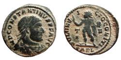 Ancient Coins - Constantine I the Great (307-337 A.D.) bronze follis (3,37 g., 21 mm) Arles mint (314-315 A.D.) SOLI INVICTO COMITI. T*/F. SARL.