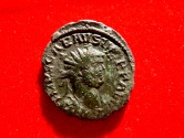 Ancient Coins - Roman Empire - Scarce Carausius. Romano-British Emperor, bronze antoninianus ( 3,49, 21 mm).  Londinum mint. 287-293 A.D. PAX AVGGG. S-P//MLXXI
