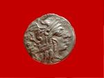 Ancient Coins - Roman republic - M. Calidius, Q. Metellus, and Cn. Fulvius silver denarius (3,65 g. 17 mm.). Rome, BC. 117-116. Victory driving biga.