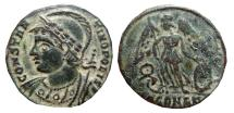 Ancient Coins - Constantinopolis AE follis, Arles mint, 331 - 334 A.D. Wreath / SCONST. RARE. R3 in RIC.