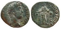 Ancient Coins - Commodus Æ Sestertius. 192 AD. LIB AVG P M TR P XVII COS VII P P S C, Libertas. RIC.619.