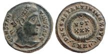 Ancient Coins - Constantine I AE18, Heraclea mint, 326 A.D. VOT XXX in wreath, SMHΓ.