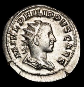 Ancient Coins - Philippus II. (244-249 AD). AR Antoninianus. Rome. - PRINCIPI IVVENT, Philip as Prince of the Youth