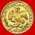 World Coins - México - 1/2 escudo gold coin - City of Mexico - 1842 - M·M.