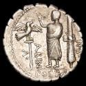 Ancient Coins - A. Postumius Albinus. Ar Denarius serratus. Rome 81 B.C. - A⦁ – POST·A· F – ·S·N – ALBIN
