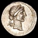 Ancient Coins - Julius Caesar. AR Denarius. Gaul mint, ca. 54-51 B.C. - Venus and cupid / Trophy. Great exemplar.