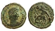 Ancient Coins - Constantius II AE22.347-355 AD. Rome. Г / R wreath Q.
