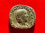 Ancient Coins - Roman Empire - Otacilia Severa (Augusta, 244-249) bronze Sestertius (18,40 g, 29 mm.). Rome mint. PIETAS AVGVSTAE / S - C. RIC 208a.