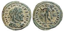 Ancient Coins - Licinius I AE follis. Rome. 308-324 AD. SOLI INVICTO COMITI. R/F RQ.