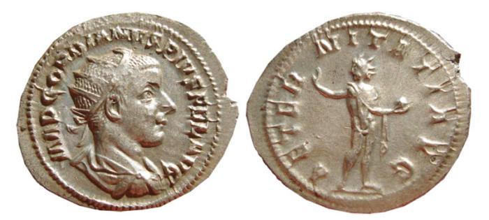 Ancient Coins - Gordian III AR antoninianus. Rome, 238-244 AD. AETERNITATI AVG.