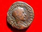 Ancient Coins - Gordian III (238-244 A.D.) bronze sestertius (21,42 g,. 29 mm.) Rome mint. 238-239 A.D. LAETITIA AVG N.