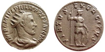 Ancient Coins - Philip I, the Arab, AR antoninianus. Antioch mint. 244-249 A.D.  RIC IV 71. VF CONDITION