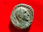Trajan Decius (249-251 A.D.), bronze sestertius (19,80 g. 26 mm.) from Rome mint, 249 A.D. PAX AVGVSTI.