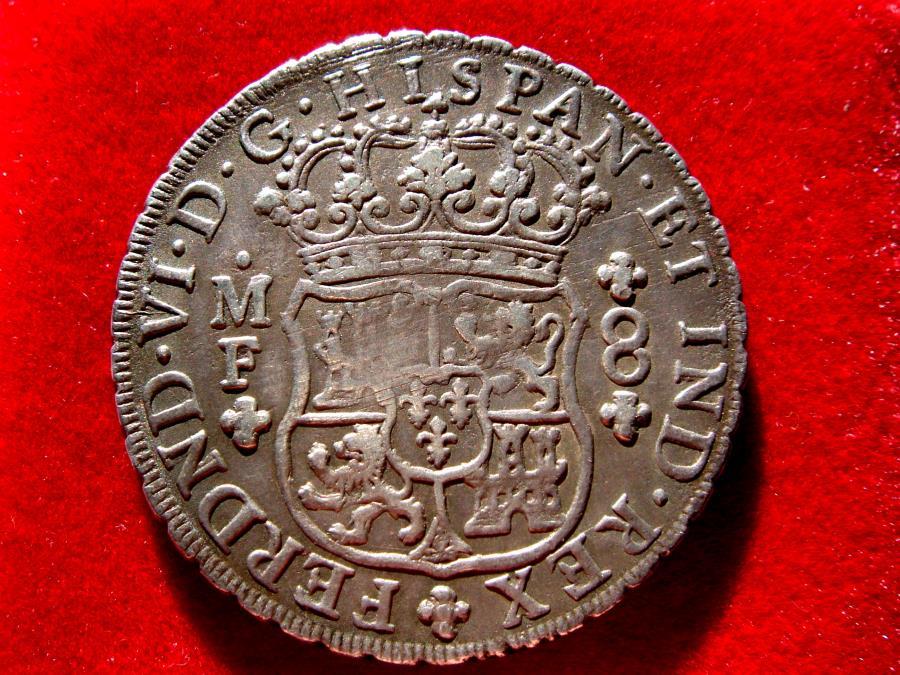 Spain Fernando Vi 1746 1759 8 Reales Silver Coin 1752 Mexico Columnary Type