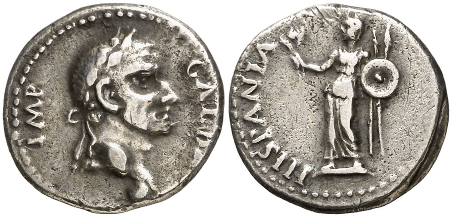 Ancient Coins - Very rare Galba silver denarius, Tarraco mint, 68 A.D. HISPANIA. RIC. 21. Wonderful example!!