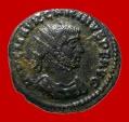 Ancient Coins -  Carinus (283-285 A.D.). silver antoninianus, VIRTVS AVG / B / XXI. RIC 326.