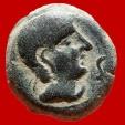 Ancient Coins - Semis Castulo (Linares, Jaén). I BC. Bull & L crescent. FAB 715