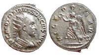 Ancient Coins - Trajan Decius AR antoninianus. Rome, 249-251 AD. VICTORIA AVG. EF.