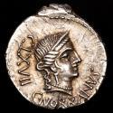 Ancient Coins - C. Norbanus, Silver denarius. Rome, 83 B.C. - Venus CLXVII / Corn ear, fasces and caduceus.