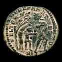 Ancient Coins - Constans, Bronze follis (3.46 g, 22 mm). Minted in Rome, 348-350 A.D. FEL TEMP REPARATIO / RS, RIC 138 (Not in RIC with S).