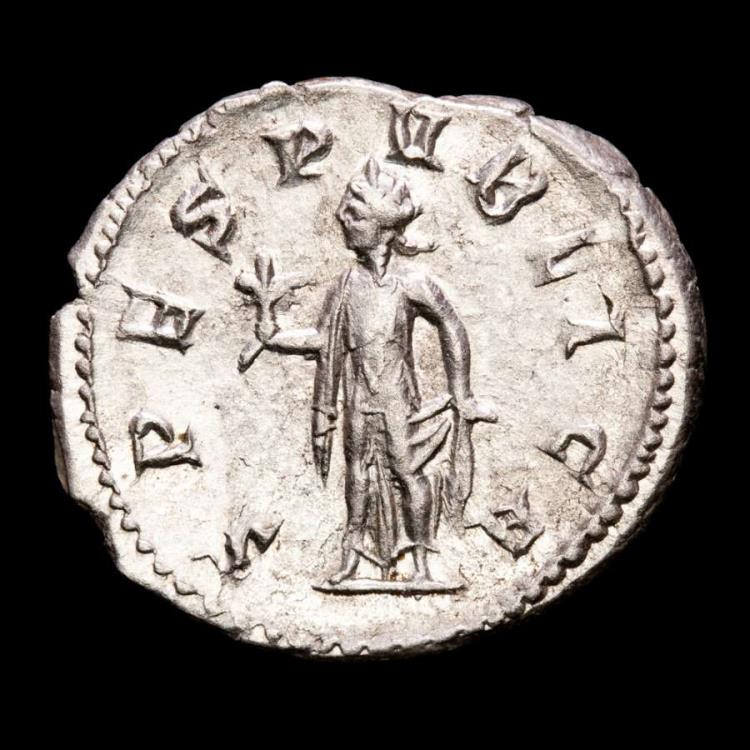 Ancient Coins - Herennius Etruscus as Caesar (250-251) silver antoninianus - Rome. - SPES PVBLICA.
