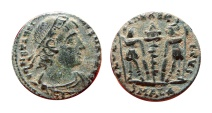 Ancient Coins - Constantine I AE15 half follis. 335-337 A.D. Barbarous imitative from Alexandria mint. SMALA.  VF condition.