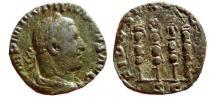 Ancient Coins - Philip I AE sestertius. FIDES EXERCITVS S-C, Eagle & 3 standards