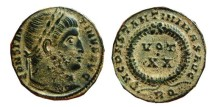 Ancient Coins - Constantinus I follis. Rome. 321 A.D. D N CONSTANTINI MAX AVG. VOT.XX. RQ