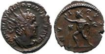 Ancient Coins - Attractive Victorinus (269-271 A.D.) bronze antoninianus (3,39 g. 20 mm.) minted in Cologne. 269-271 AD. INVICTVS. RIC 114.