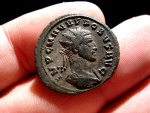 Ancient Coins - Probus (276-282 A.D), silvered antoninianus (3,83 g. 22 mm.) from Antiochia mint, 280 A.D. CLEMENTIA TEMP. P. XXI.