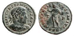 Ancient Coins - Constantine I AE follis. Trier.  310-313 AD.SOLI INVIC-TO COMITI. T/F. PTR.