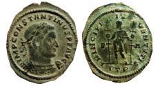Ancient Coins - Constantine I AE large follis. Trier. 307-308 AD. PRINCIPI IVVENTVTIS, S/A. PTR. Scarce.