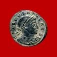Ancient Coins - Roman Empire - Crispus (Caesar, 316-326 A.D.) bronze follis (3,13 g. 19 mm.). Rome mint 321 A.D. CAESARVM NOSTRORVM / VOT X / RT. Wreath. RIC 48.