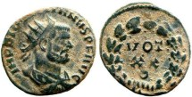 Ancient Coins - Diocletian radiate fraction, 284-305 AD. Rome mint. VOT - XX