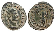 Ancient Coins - Claudius II Gothicus, AE antoninianus, Rome mint, 268 - 270 A.D.; LIBERALITAS AVG,