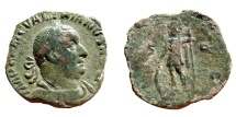 Ancient Coins - Valerian I AE sestertius. VIRTVS AVG. S-C
