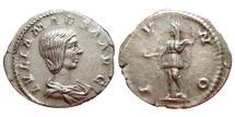 Ancient Coins - Julia Maesa AR Denarius. 218-224/5 AD. Antioch. IVNO