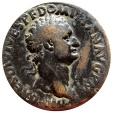 Ancient Coins - Roman Empire - Domitian (81 - 96 A.D.), bronze sestertius (22,35 grs. 32 mm), from Rome mint, 82 A.D. TR P COS VIII DES VIIII P P. Minerva.
