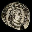 Ancient Coins - Valerian I. A.D. 253-260. AR antoninianus. Rome. RESTITVTOR ORBIS, Valerian raising female kneeling right.