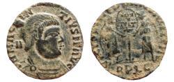 Ancient Coins - Magnentius AE19. AD 350–353. Lugdunum. VOT V MVLT X. RPLG. Victories.