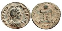 Ancient Coins - Crispus helmeted AE follis. Londinum PLON. VOT/IS/XX. Scarce!!!