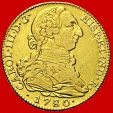 Spain- Charles III (1759-1788) 4 escudos gold coin, Madrid. 1780. Assayer P J