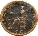 Ancient Coins - Roman Empire - Trajan (98 - 117 A.D.), bronze sestertius (25,80 grs. 32 mm.) minted in Rome, 103 - 111 A.D. SPQR. OPTIMO PRINCIPI.