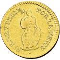 World Coins - Perú - Escudo - 1829 J.M. - República Peruana - Oro. 3.34 g. KM# 147.