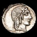Ancient Coins - C. Marcius Censorinus. AR Denarius. Rome, 88 BC. - Horse galloping right - C·CENSOR